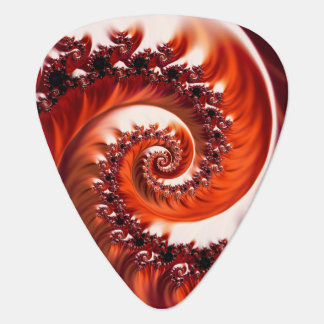 Crimson Passion Fractal Spiral, Heart of the Rose Guitar Pick