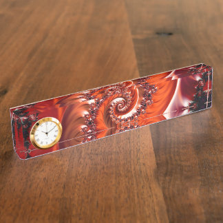Crimson Passion Fractal Spiral, Heart of the Rose Nameplate
