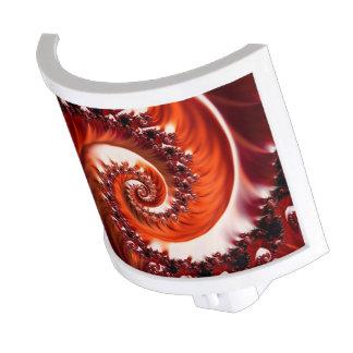 Crimson Passion Fractal Spiral, Heart of the Rose Night Light