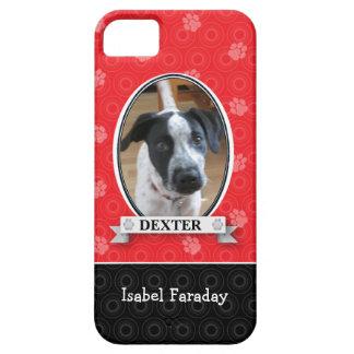 Crimson Paw Print Pet iPhone 5 Cases