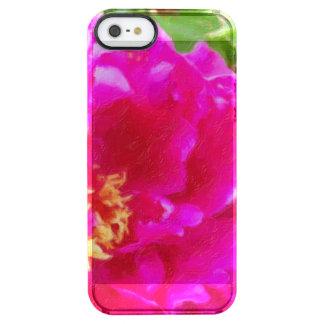 crimson peony art clear iPhone SE/5/5s case