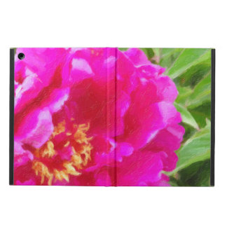 crimson peony art iPad air case