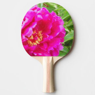 crimson peony art ping pong paddle