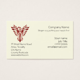 Crimson Phoenix Rising from Ashes Business Card