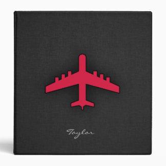 Crimson Red Airplane Vinyl Binders