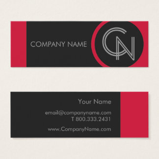 Crimson Red Bold Mini Business Card