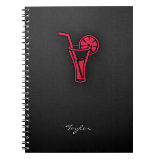 Crimson Red Cocktail Note Book