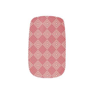 Crimson Red & Cornsilk Cream Minx Nail Art