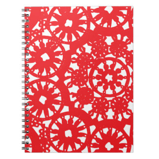 Crimson Red lace Notebooks