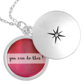 Crimson Red Motivational message Necklace