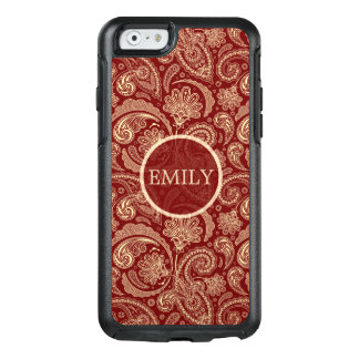 Crimson Red Paisley OtterBox iPhone 6/6s Case