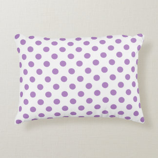 Crimson Red Polka Dots Circles Decorative Pillow