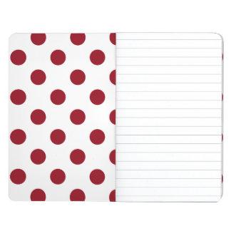 Crimson Red Polka Dots Circles Journals
