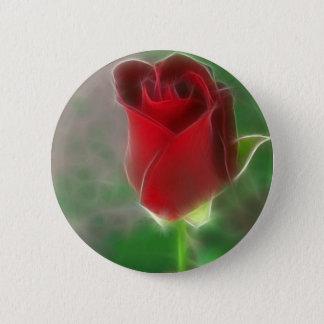 Crimson Red Rose Angelic 2 Inch Round Button
