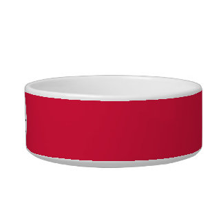 Crimson red solid color with monogram bowl