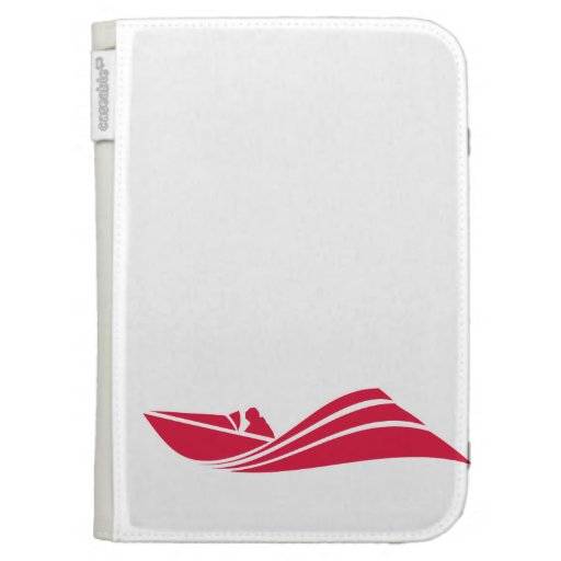 Crimson Red Speed Boat Kindle Keyboard Cases