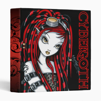 """Crimson"" Red Tattoo Cybergoth Angel Binder"