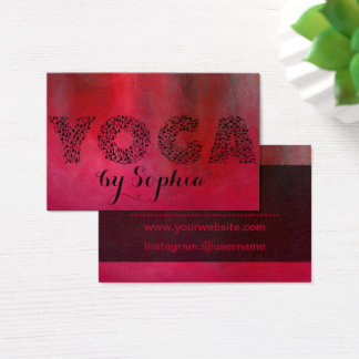 Crimson Red Yoga Bussines Card