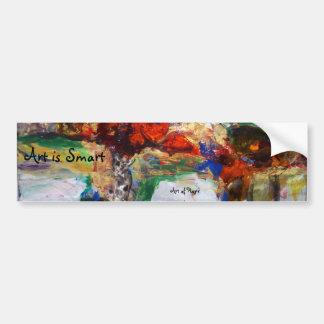 """Crimson"" reproduction abstract art Bumper Sticker"