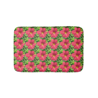 Crimson Shadows Daylily bath mat