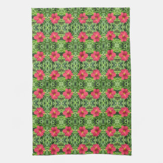 Crimson Shadows Daylily hand towel