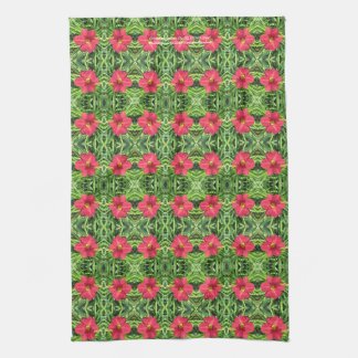 Crimson Shadows Daylily kitchen towel