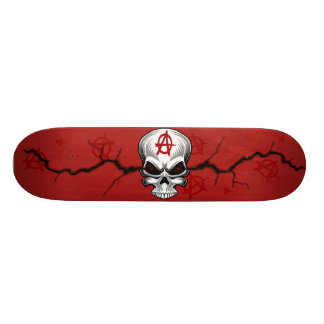 Crimson Skull Anarchy Skate Board Deck
