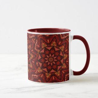 Crimson Star Mandala Mug