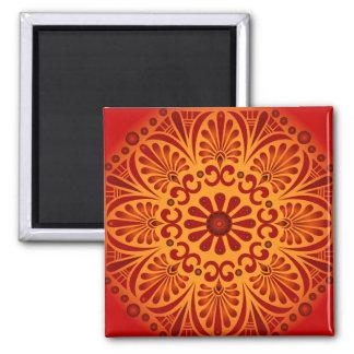 Crimson Sunset Square Magnet