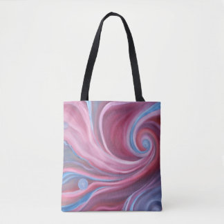 Crimson Swirl Tote Bag