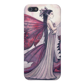 Crimson Twilight Fairy and Dragon iPhone Case Case For The iPhone 5