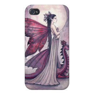 Crimson Twilight Fairy and Dragon iPhone Case Cases For iPhone 4