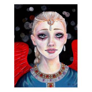 Crimson Wings Angel Postcard