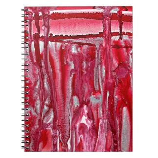 crimson winter landscape 121517 spiral notebook