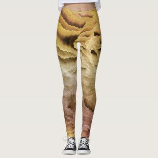 Crinkle Cut Creams Leggings