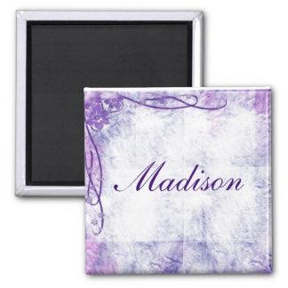 Crinkled Paper & Swirls In Lavender Magnet