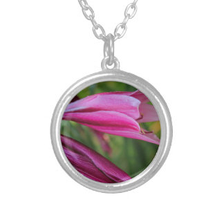 Crinum Lily Silver Plated Necklace