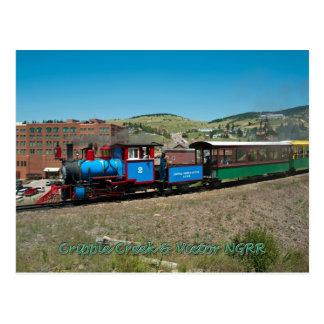 Cripple Creek Narrow Gauge Railroad Postcard