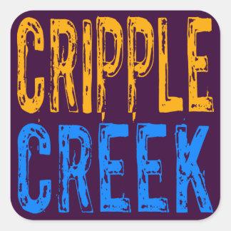 Cripple Creek Square Sticker