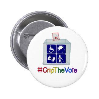 #CripTheVote button, 2 1/4-inch, round 2 Inch Round Button