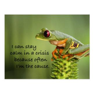 Crisis Frog Postcard