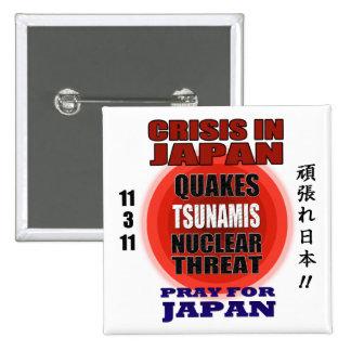 Crisis In Japan 2011 Pinback Button