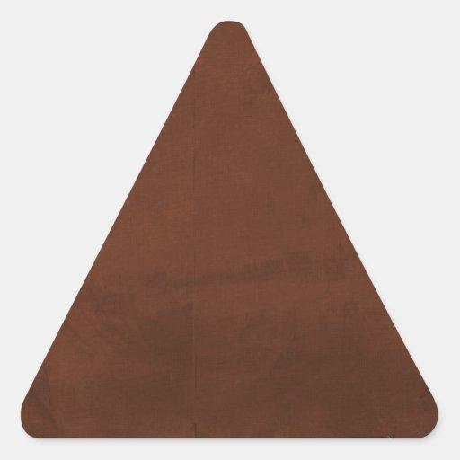 crisp fall air  leaf paper02 RICH COFFEE BROWN  TE Triangle Stickers