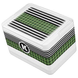 Crisp Green, White & Black w/Monogram