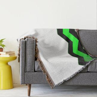 Crisp Modern Green Accent Throw Blanket