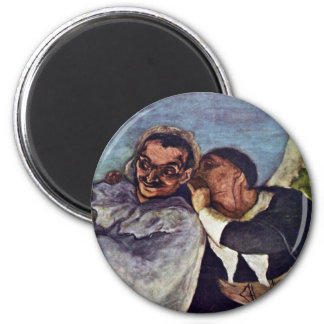 Crispin And Scapin By Daumier Honoré Magnet