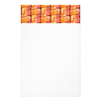Crispy Bacon Weave Pattern Customized Stationery