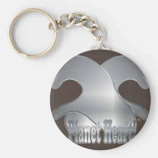 Criss Cross HeartMark Hands! Basic Round Button Keychain