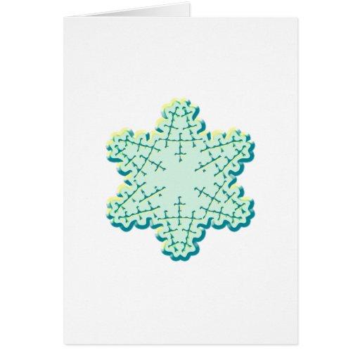 Cristal de glace démodé de flocon de neige de Noël Cartes De Vœux