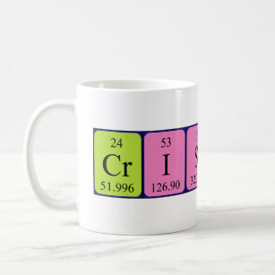 Periodic table coffee travel mugs zazzle ca cristina periodic table name mug urtaz Image collections